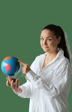 sprievodkyna meggy s globusom v m16 bratislava ruzinov