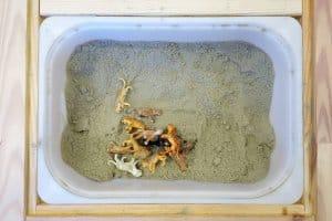 pieskovisko so zvieratkami montessori aktivity